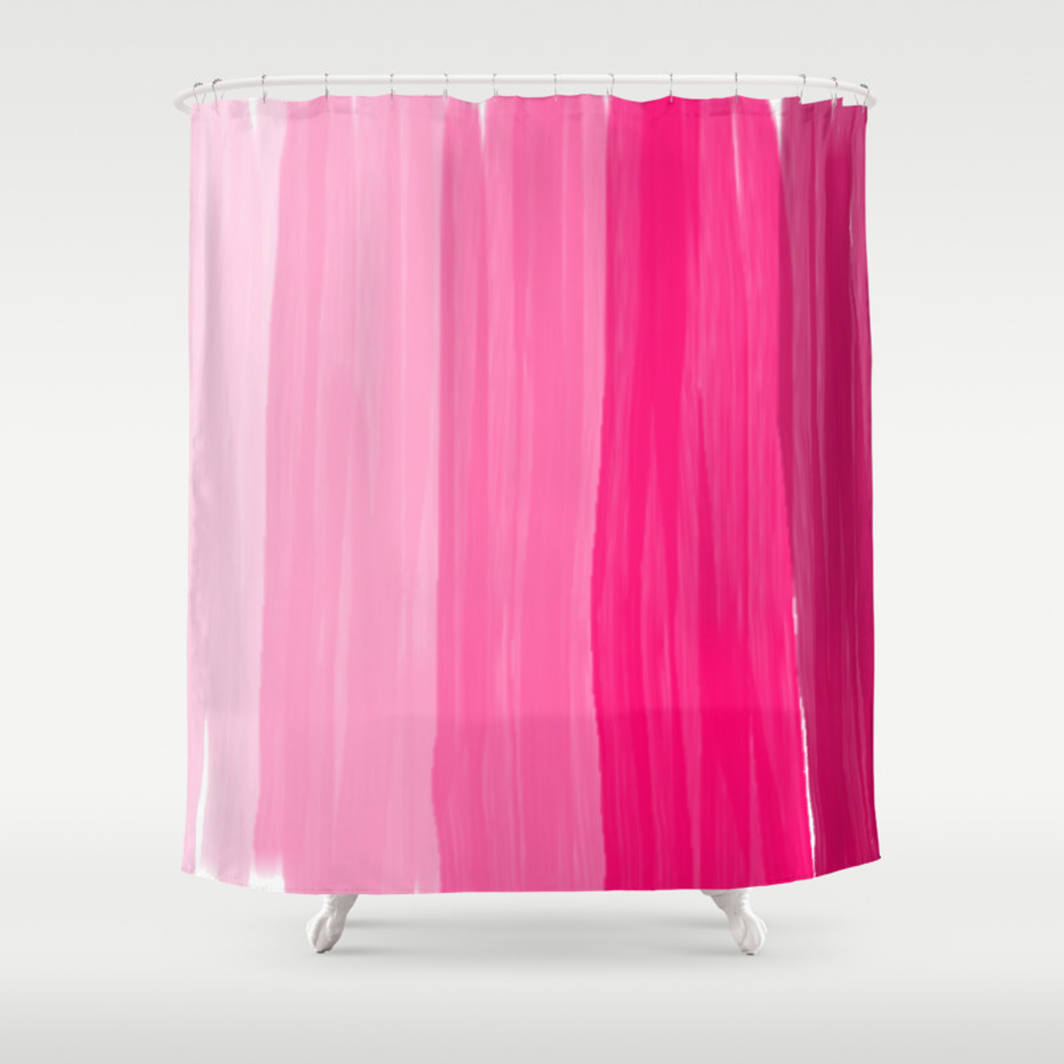 Pink Stripes Shower Curtain