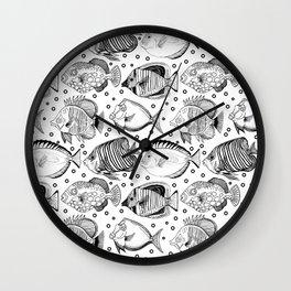 Fish - the school Wall Clock