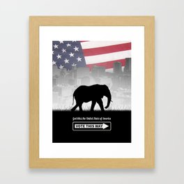 Vote This Way Framed Art Print