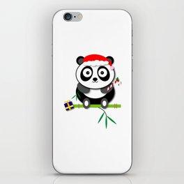 Holiday Panda iPhone Skin