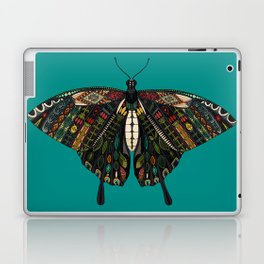 swallowtail butterfly teal Laptop & iPad Skin