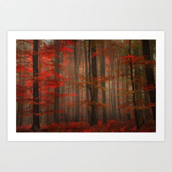 Enchanting Red Art Print