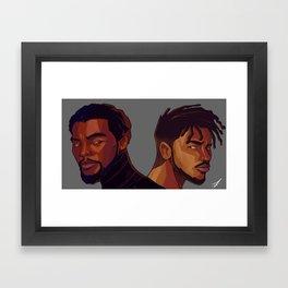 Black Panther and Killmonger Framed Art Print
