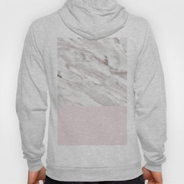 Blush and taupe marble Hoody