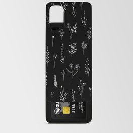Black wildflowers Android Card Case
