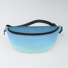 Sea blue Ombre Fanny Pack