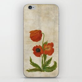 Vintage painting- Bunch of poppies Poppy Flower floral iPhone Skin