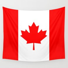 Canadian National flag, Authentic color and 3:5 scale version Wall Tapestry