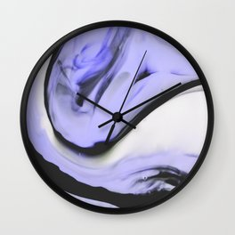 Neither never - agate Wall Clock