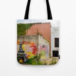 Eiffel Tower Grafitti Tote Bag