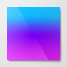 Blue/Pink Gradient Metal Print