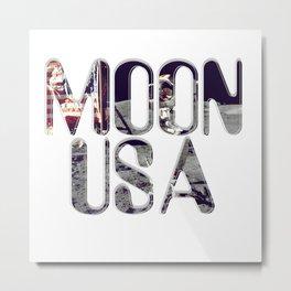 MOON USA Metal Print