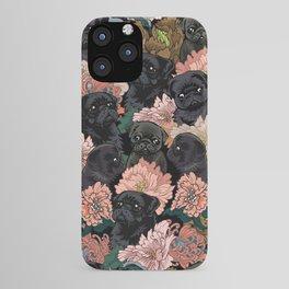 Because Black Pug iPhone Case
