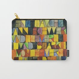 Paul Klee Once Emerged from the Gray of Night Carry-All Pouch