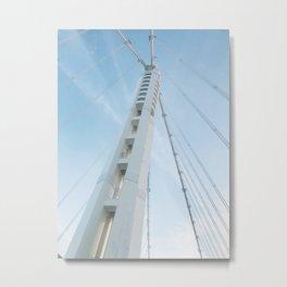 Crossing the SF Bay Bridge Metal Print