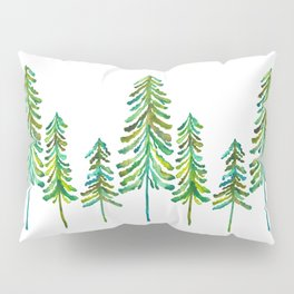 Pine Trees – Green Palette Pillow Sham