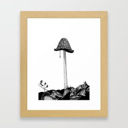 Inky Framed Art Print