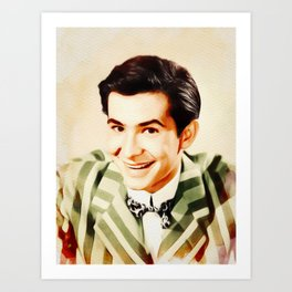 Anthony Perkins, Vintage Actor Art Print