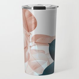 Blush & Blue Leaves Travel Mug