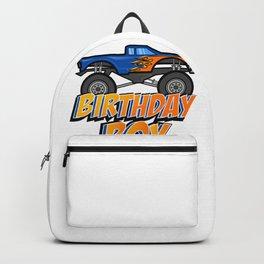 Kids Birthday Boy Monster Truck Crushing design Gift Backpack