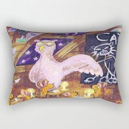 Class with Owl teacher Rectangular Pillow