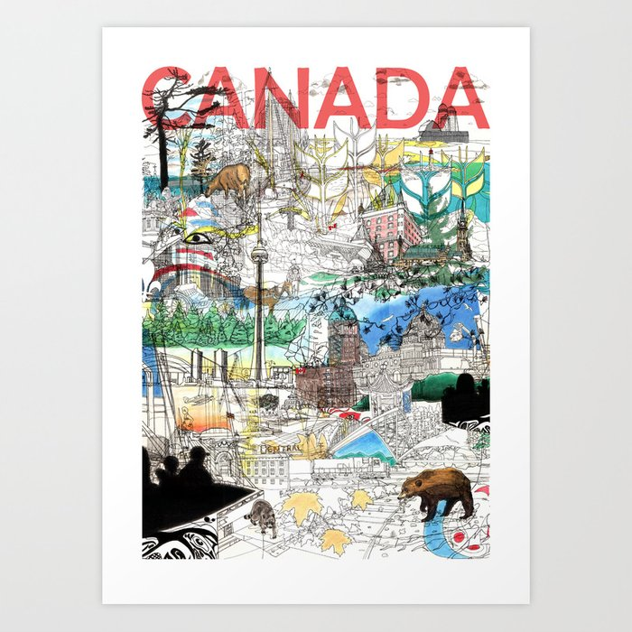 Canada (portrait version) Art Print