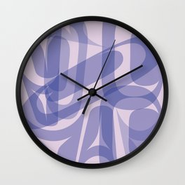 Abstract Formline Purple Wall Clock