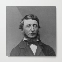 Benjamin Maxham - portrait of Henry David Thoreau Metal Print