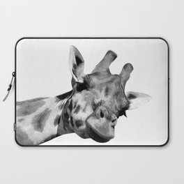 Black and white giraffe Laptop Sleeve