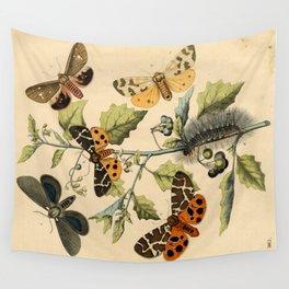 5 Moths Wall Tapestry