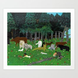 1945 American American Masterpiece 'Holy Mountain III' by Horace Pippin Art Print
