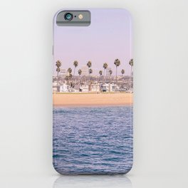 Vintage Newport Beach Print {2 of 4} | Photography Ocean Palm Trees Magenta Tropical Summer Sky iPhone Case