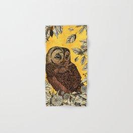 Tawny Owl Yellow Hand & Bath Towel