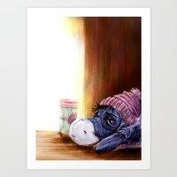 eeyore Art Prints featuring eeyore by Julian