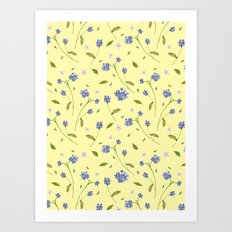 Botanical Print (Hound's Tongue)  Art Print