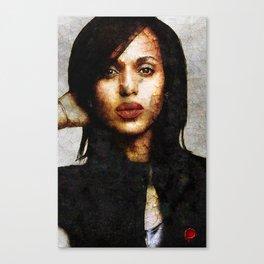 Portrait of Kerry Washington Canvas Print