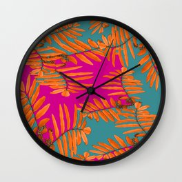 Leaves In Autumn Colors #decor #society6 #buyart Wall Clock