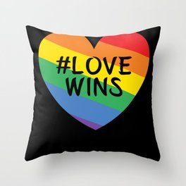 Love Wins Heart Throw Pillow