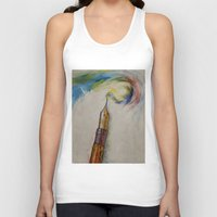 pen Tank Tops featuring Fountain Pen by Michael Creese