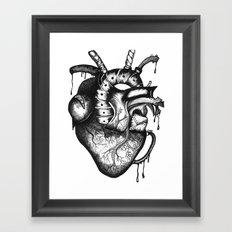 Anatomical Heart Framed Art Print