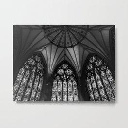 Black & White Cathedral Metal Print