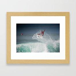 Pro Surfer Adriano De Souza Framed Art Print