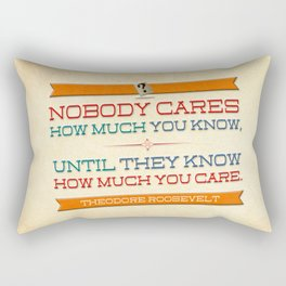 How Much You Care Rectangular Pillow