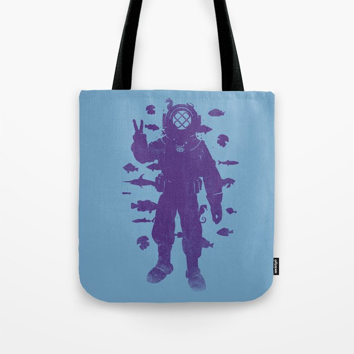 peace under water Tote Bag