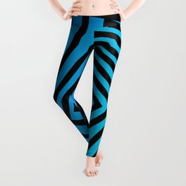 Squares twirling from the Center. Optical Illusion of Perspective bu Squares twirling Leggings