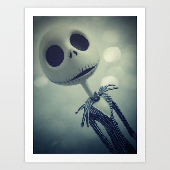 mr jack nightmare before christmas art print - Jack Nightmare Before Christmas