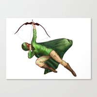 archer Canvas Prints featuring Archer by Sarah C
