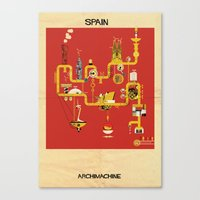 spain Canvas Prints featuring Spain by federico babina