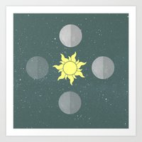moon phases Art Prints featuring Phases by Shelby Thompson