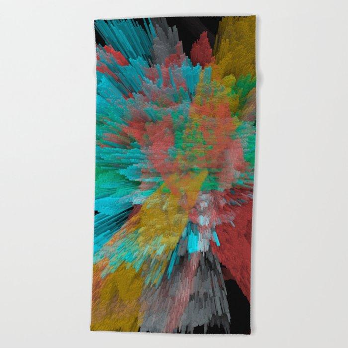 Abstract 123 Beach Towel
